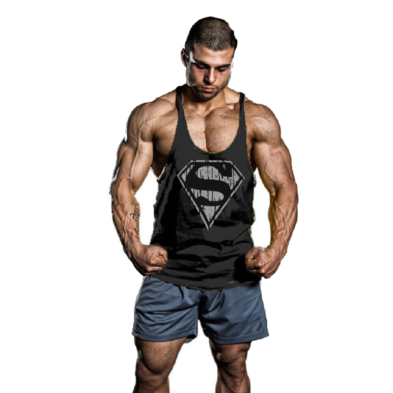 d5a1ef6d70451c Superman-Gym-Singlets-Mens-Tank-Tops-Shirt-Bodybuilding-