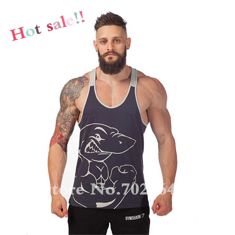 c1d7084397f9d1 Summer Gym Tank Top Men Sleeveless Shirt Bodybuilding Stringer ...